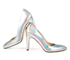 Sandy 4 holographic silver metallic 3 web
