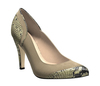 Pam 4 black beige snake light taupe suede 1