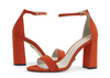 Caitlin 4 flame orange suede image 6 low res