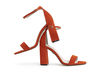 Caitlin 4 flame orange suede image 1 low res