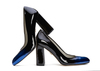 Zoe 4 black   blue patent image 1 low res